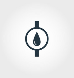 water meter icon from measurement icons collection vector image