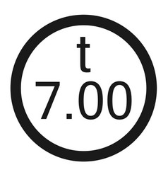 Weight limitation 7 tons sign line icon vector