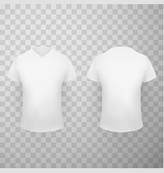 white t shirt realistic set vector image