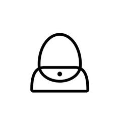 woman flap bag vector image