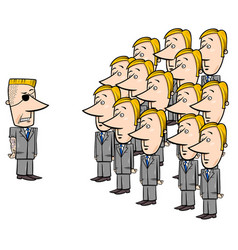 Young employees and manager cartoon vector