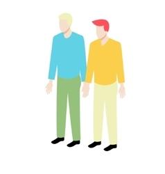 Young isometric gay couple vector image