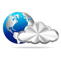 Cloud and Globe vector image vector image