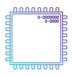 microchip closeup icon in color gradient vector image vector image