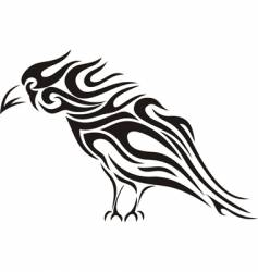 raven tribal tattoo vector image