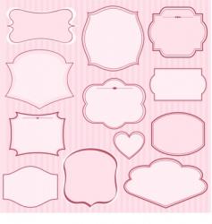 set of pink frames vector image