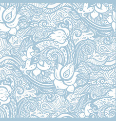 vintage seamless pattern with abstract flowers vector image