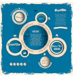 Vintage web design bubbles vector image vector image
