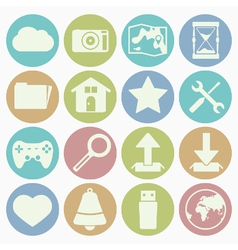 white icons web vector image vector image