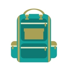 bag school isolated icon design vector image