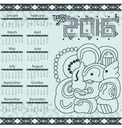 Calendar in aztec style with hieroglyphs vector image