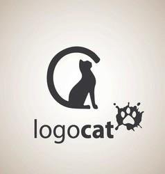 cat logo 1 vector image vector image
