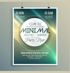 minimal club music flyer brochure template in vector image