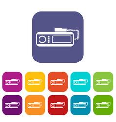 radio taxi icons set vector image vector image