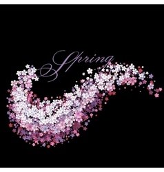 Tender background with flower wave vector image