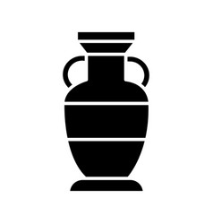 vase interior icon black vector image vector image