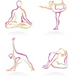 yoga logos vector image