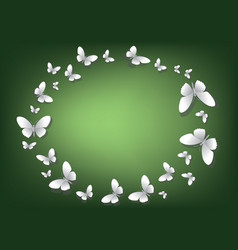 Abstract green background with white paper vector