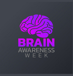 brain awareness week icon design infographic vector image vector image