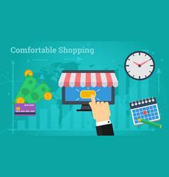 Business banner - comfortable shopping vector