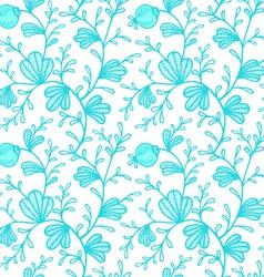 floral pattern blue vector image vector image