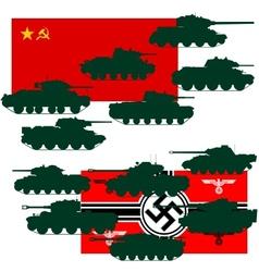 Set of war tanks vector image vector image
