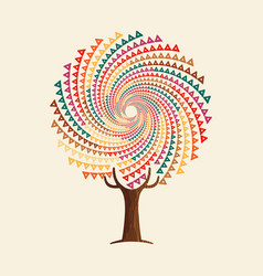 Abstract boho style tree mandala concept vector