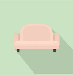 armchair sofa icon flat style vector image