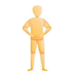 Artist mannequin icon cartoon style vector