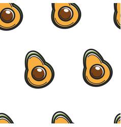 avocado fruit seamless pattern cuban symbol vector image