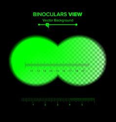 Binoculars view of binoculars vector