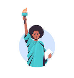 black lives matter liberty statue awareness vector image