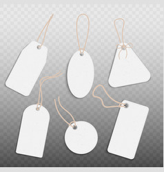 blank paper vintage price tags set realistic vector image