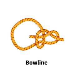 Bowline sea knot bright colorful how-to guide on vector