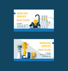 Business cards for bowling service center vector