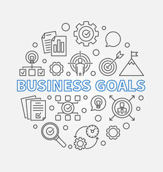 Business goals round in vector