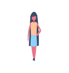 businesswoman character standing pose isolated vector image