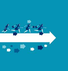 Businesswoman running toward concept business vector