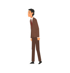 cheerful businessman character in business suit vector image