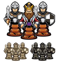 chess king and pawns vector image