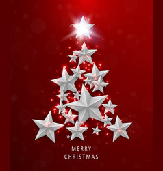 christmas and new years red background with vector image