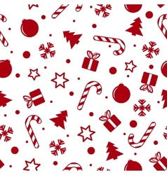Christmas background white vector image