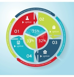 Circle business concept with icons business vector