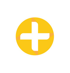 circle health cross logo image vector image
