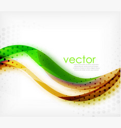 colorful wavy stripe on white background vector image