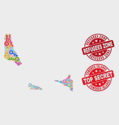Composition safeguard comoros islands map and vector