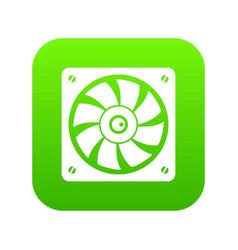 computer fan icon digital green vector image