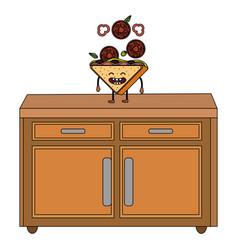 delicious tasty sandwich cartoon vector image