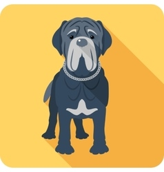 dog Neapolitan Mastiff icon flat design vector image