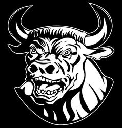 evil minotaur vector image